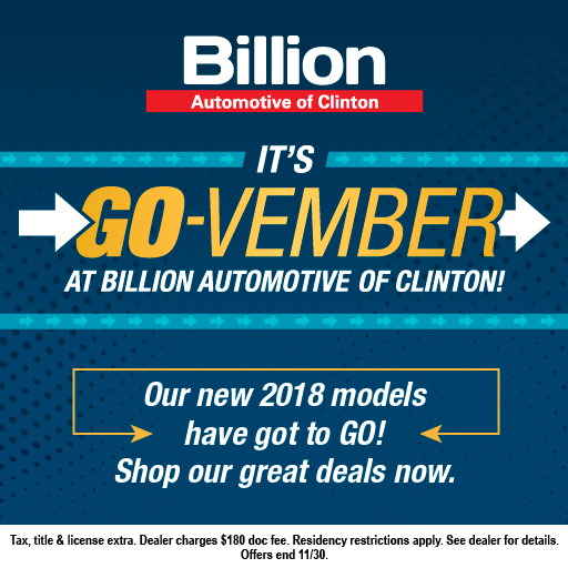 Billion Automotive of Clinton's GO-Vember