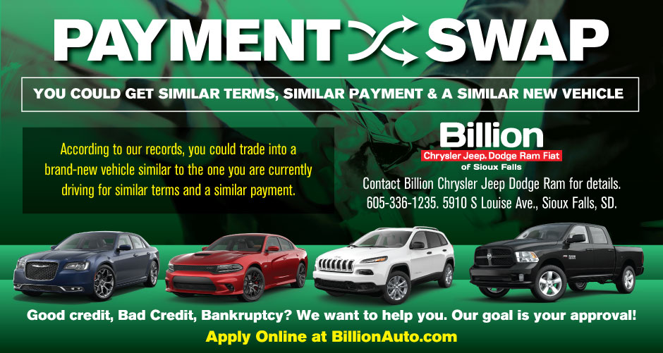 Billion Auto Sioux Falls >> Sioux Falls Chrysler Payment Swap Billion Auto