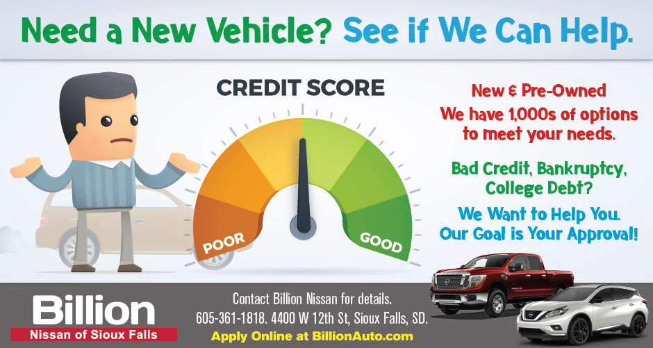 Sioux Falls Nissan Bad Credit