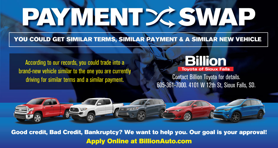 Billion Auto Sioux Falls >> Sioux Falls Toyota Payment Swap Billion Auto