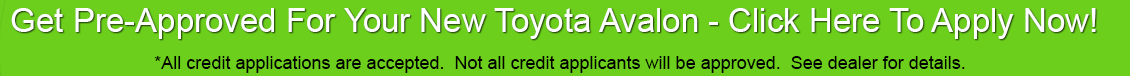 Toyota Avalon Car Loan